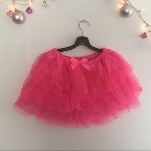 Hot Topic Pink Sparkle Tutu Skirt